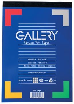 Gallery schrijfblok, ft A5, geruit 5 mm, blok van 100 vel
